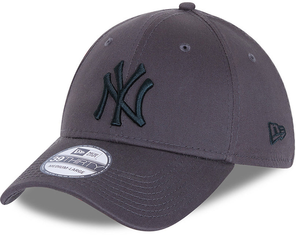 New York Yankees New Era 3930 League Essential Grey Stretch Fit Baseball Cap