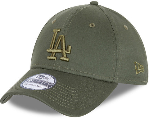 Los Angeles Dodgers New Era 3930 League Essential Olive Stretch Fit Baseball Cap