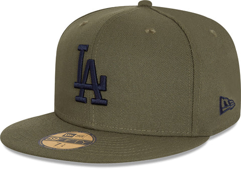 Los Angeles Dodgers New Era 5950 League Essential Olive Baseball Cap