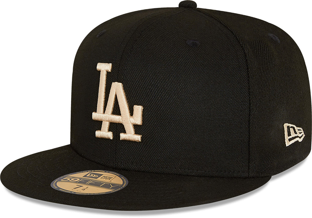 Los Angeles Dodgers New Era 5950 League Essential Black Baseball Cap