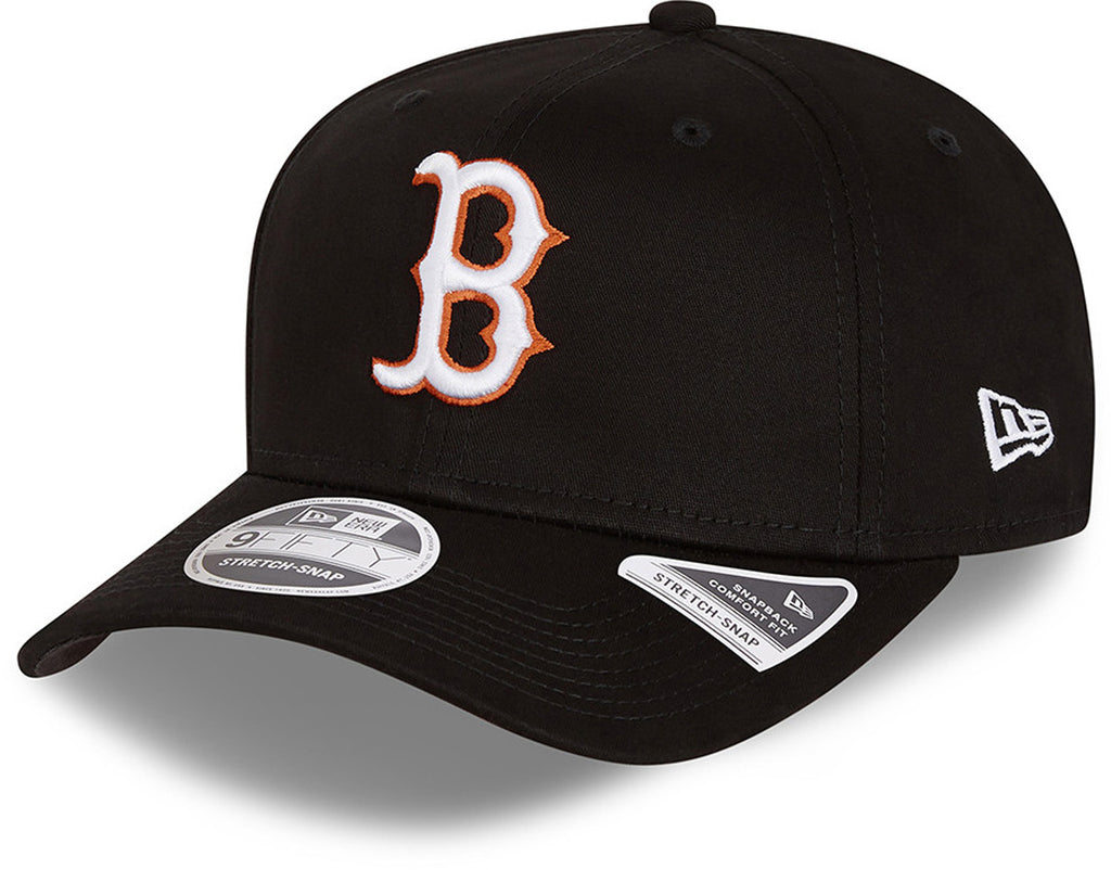 Boston Red Sox New Era 9Fifty Neon Pop Outline Stretch Snap Black Cap