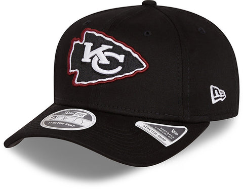 Kansas City Chiefs New Era 9Fifty Neon Pop Outline Stretch Snap Black Cap