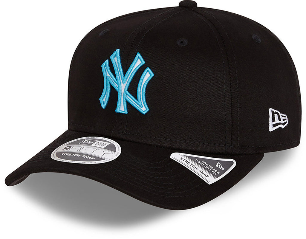 NY Yankees New Era 9Fifty Neon Pop Outline Stretch Snap Black Cap