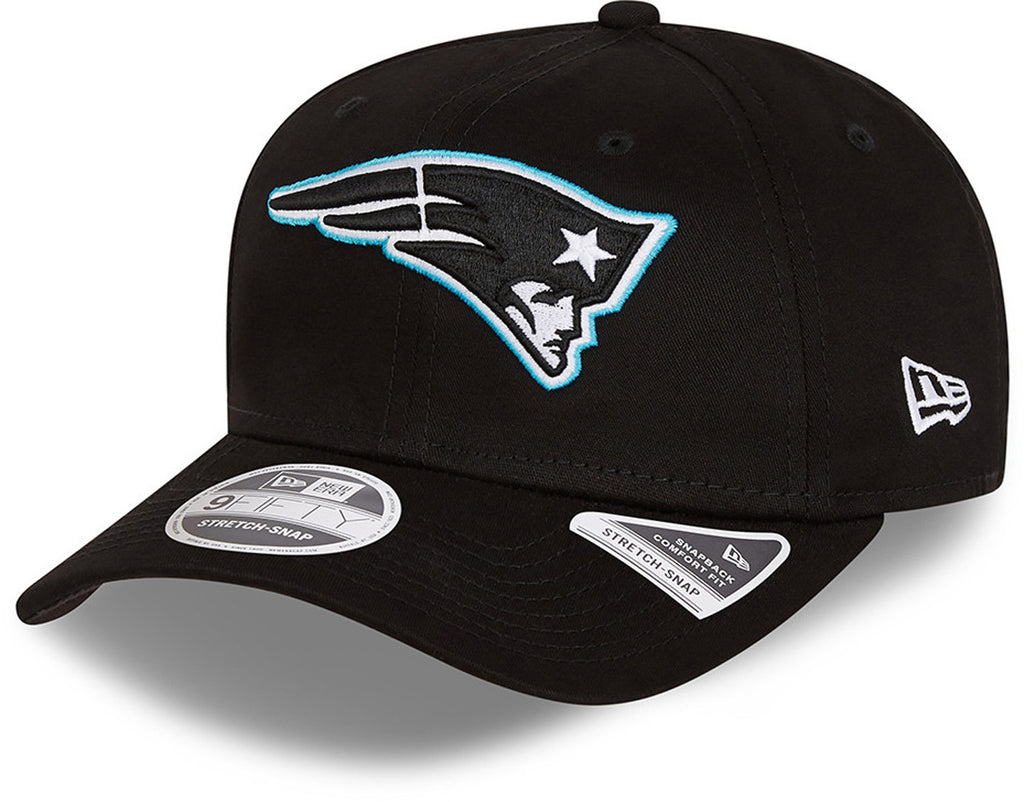 New England Patriots New Era 9Fifty Neon Pop Outline Stretch Snap Black Cap