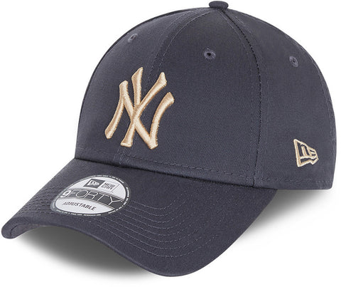 New York Yankees New Era 940 League Essential Grey Baseball Cap