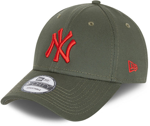New York Yankees New Era 940 League Essential Olive Baseball Cap