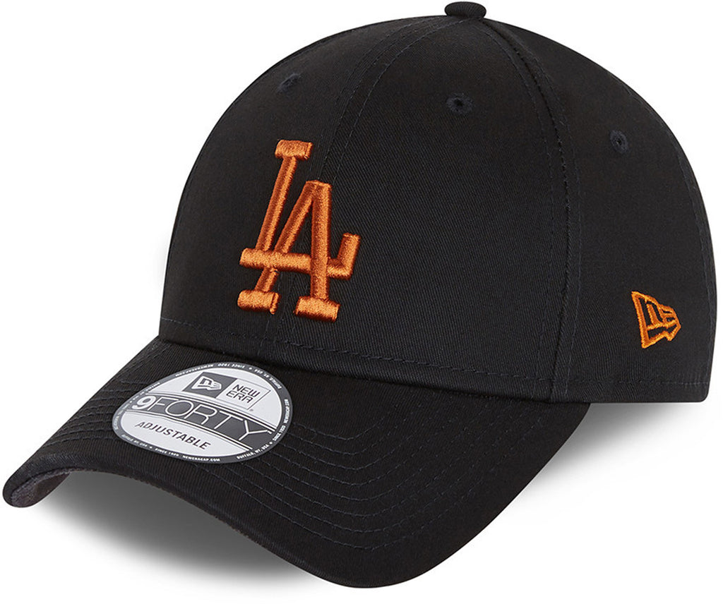 Los Angeles Dodgers New Era 940 League Essential Black Baseball Cap