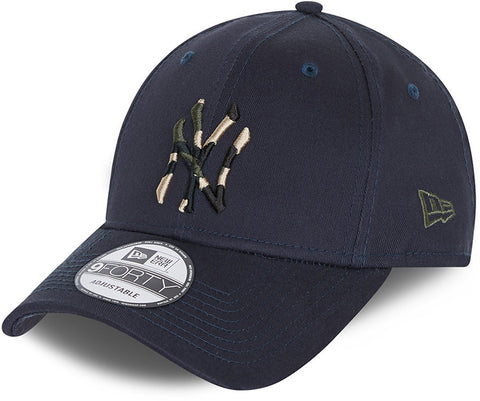 New York Yankees New Era 940 Camo Infill Navy Baseball Cap