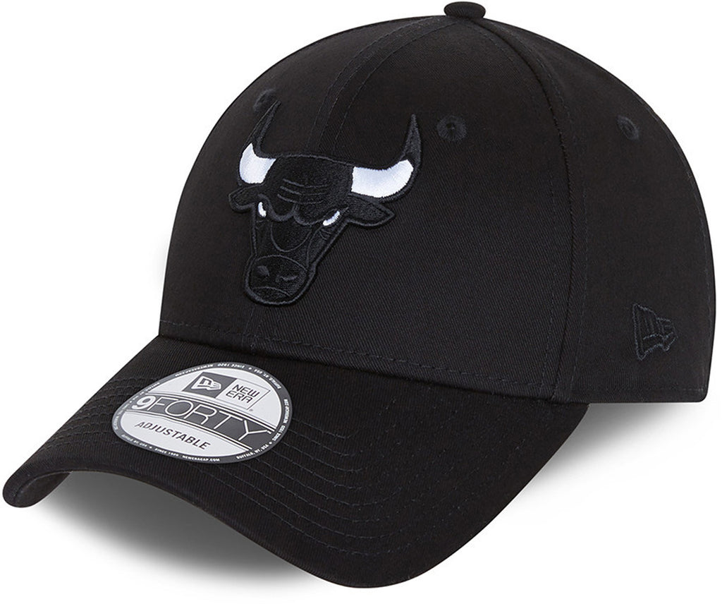 Chicago Bulls New Era 940 Black Base Snapback Team Cap