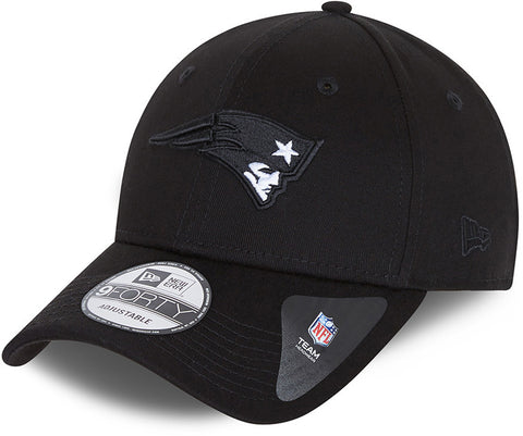 New England Patriots New Era 940 Black Base Snapback Team Cap