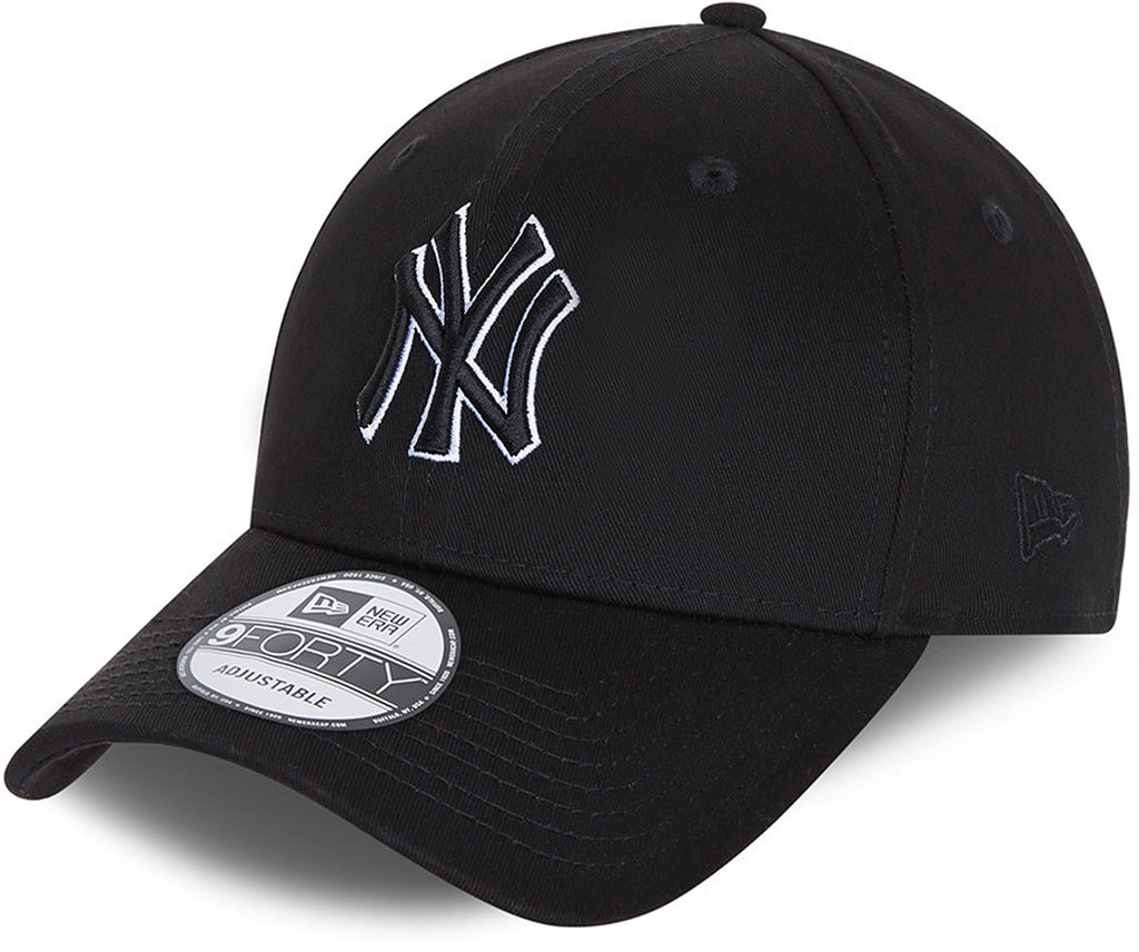 New York Yankees New Era 940 Black Base Snapback Baseball Cap