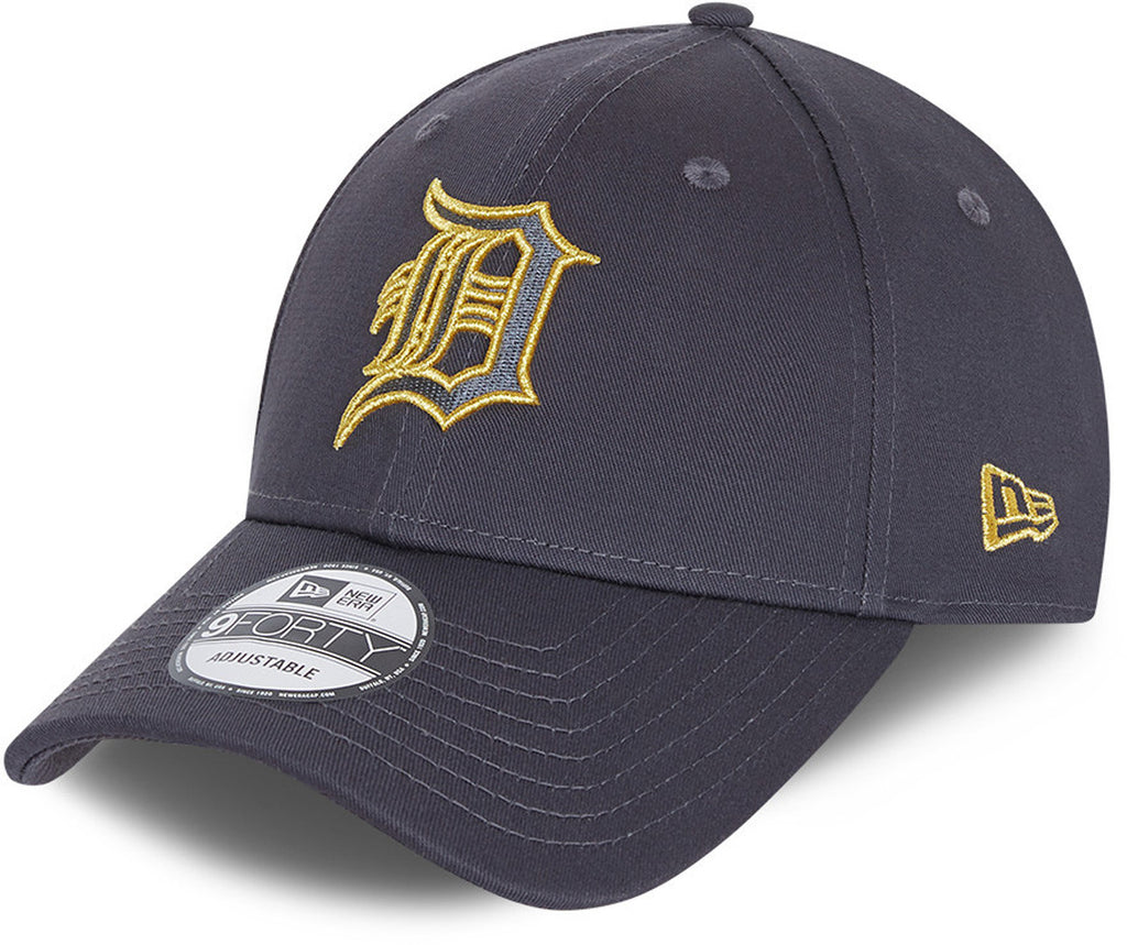 Detroit Tigers New Era 940 Metallic Logo Grey Baseball Cap