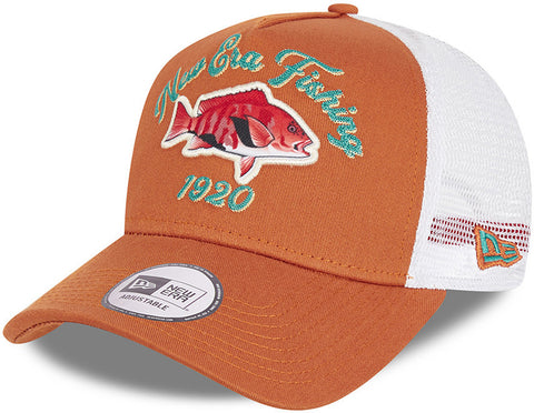 New Era  Fishing A-Frame Toffee Trucker Cap