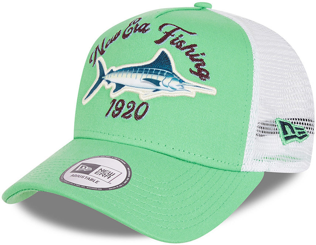 New Era Fishing A-Frame Green Trucker Cap