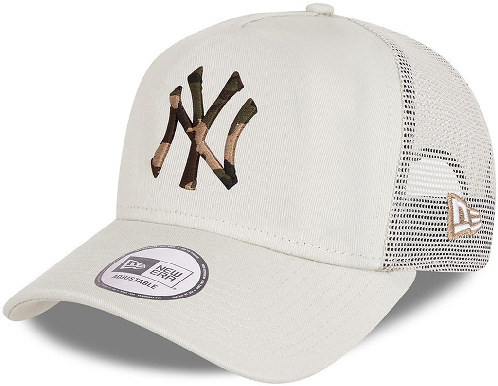 New York Yankees New Era Camo Infill Stone Trucker Cap