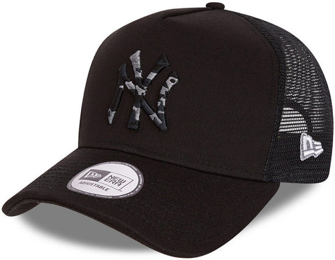 New York Yankees New Era Camo Infill Black Trucker Cap