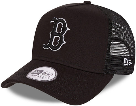 Boston Red Sox New Era Tonal Mesh Black Trucker Cap
