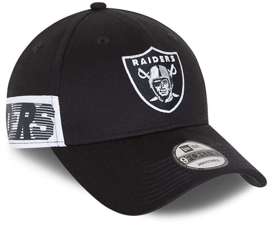 Las Vegas Raiders New Era 940 Side Mark Black Cap
