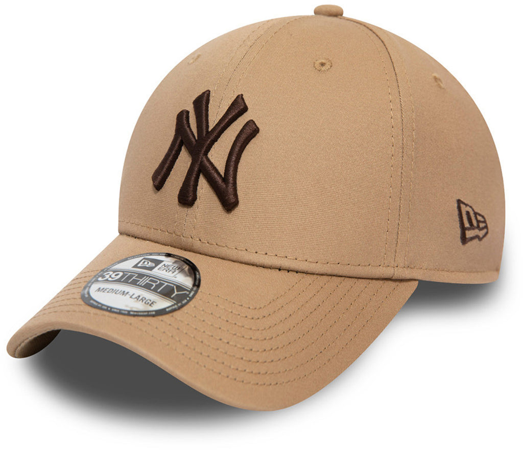New York Yankees New Era 3930 League Essential Toffee Stretch Fit Baseball Cap