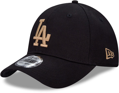 Los angeles Dodgers New Era 3930 League Essential Black Stretch Fit Baseball Cap