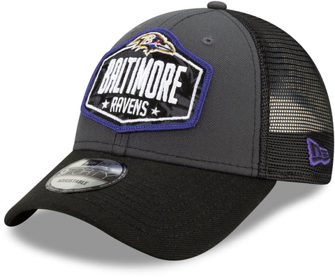 Baltimore Ravens New Era 940 NFL 2021 Draft Team Cap