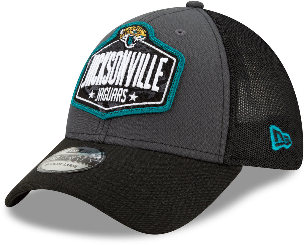 Jacksonville Jaguars New Era 39Thirty NFL 2021 Draft Stretch Fit Cap