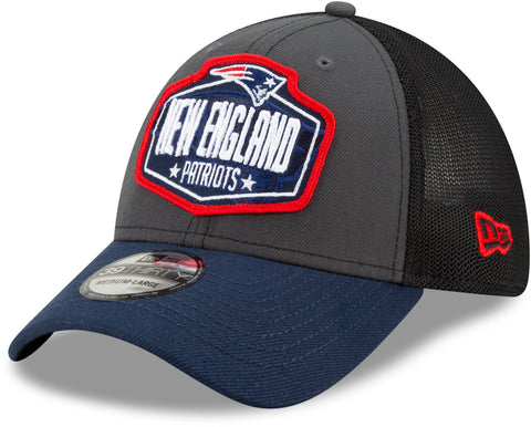 New England Patriots New Era 39Thirty NFL 2021 Draft Stretch Fit Cap