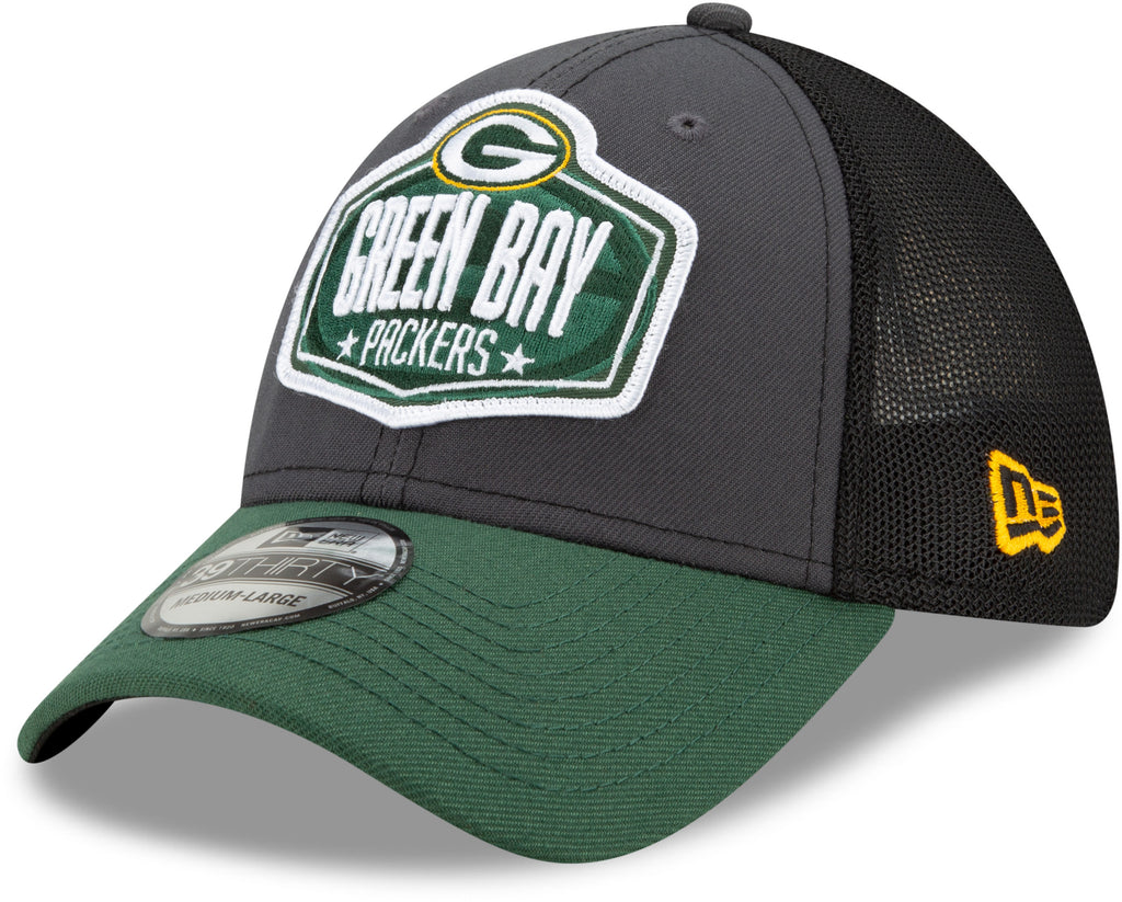 Green Bay Packers New Era 39Thirty NFL 2021 Draft Stretch Fit Cap