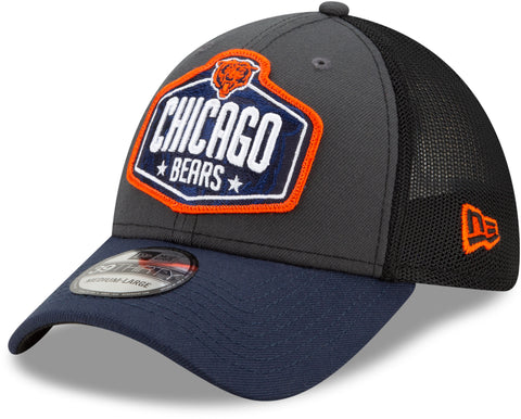 Chicago Bears New Era 39Thirty NFL 2021 Draft Stretch Fit Cap
