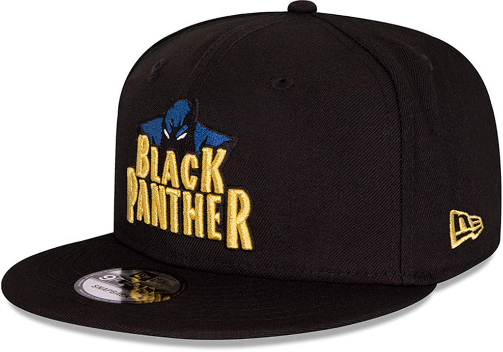 Black Panther New Era 950 Marvel Comics Black Snapback Cap - pumpheadgear, baseball caps
