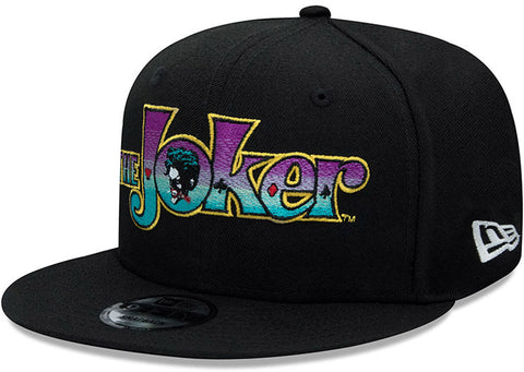 The Joker New Era 950 DC Comics Black Snapback Cap - pumpheadgear, baseball caps