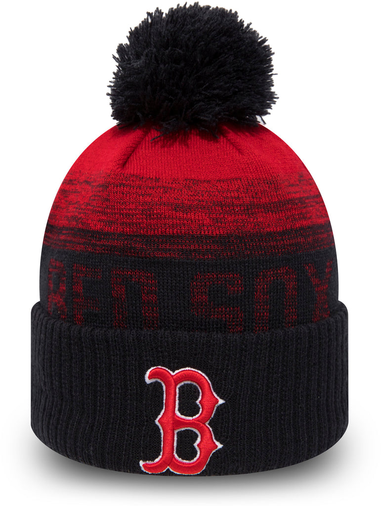 Boston Red Sox New Era Kids Sport Knit Bobble Hat (Ages 2 - 10 years) - pumpheadgear, baseball caps