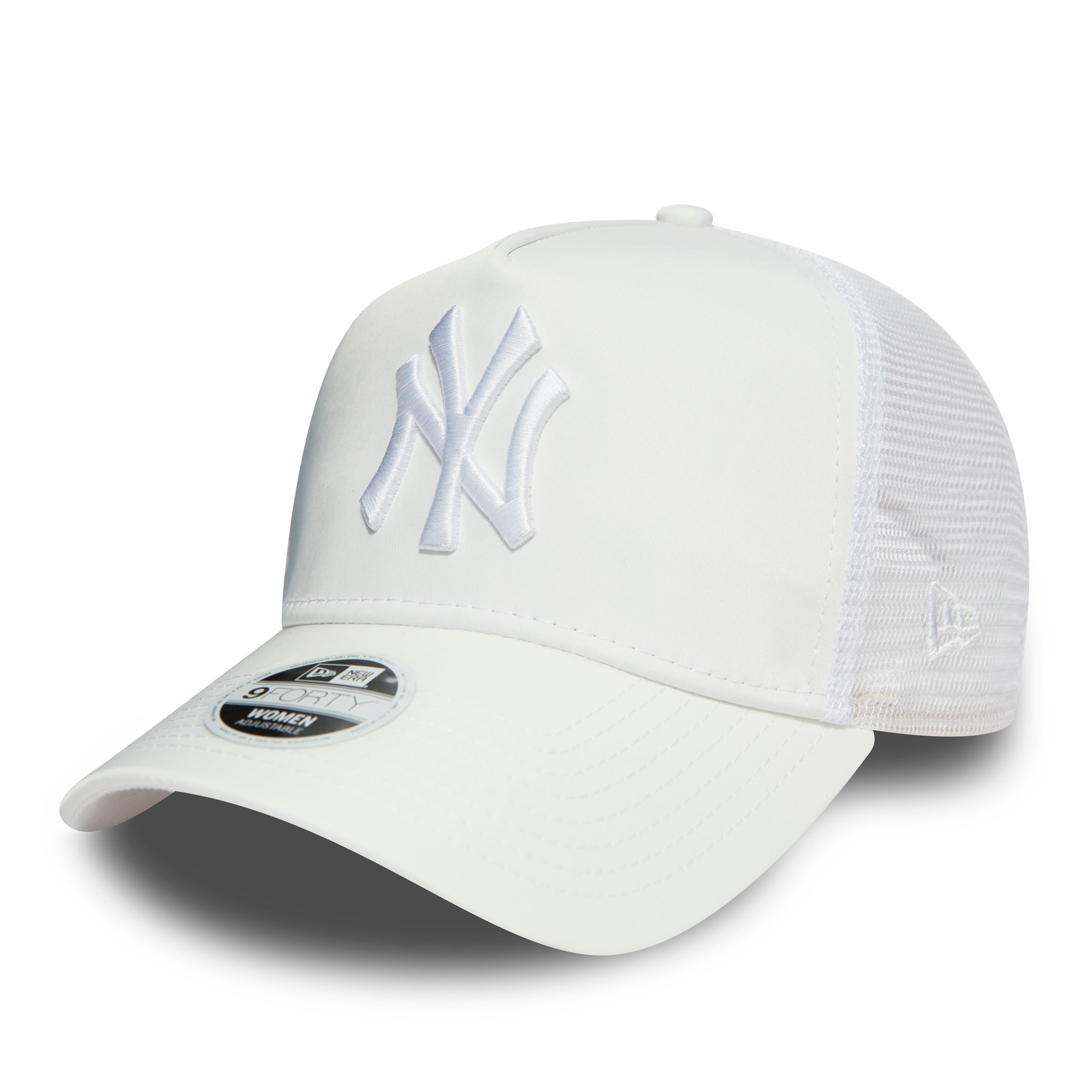 c29f825e27981 NY Yankees Womens New Era 940 White Satin Trucker Cap – lovemycap