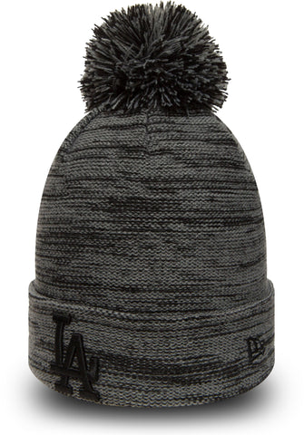 LA Dodgers New Era Marl Knit Bobble Hat - pumpheadgear, baseball caps