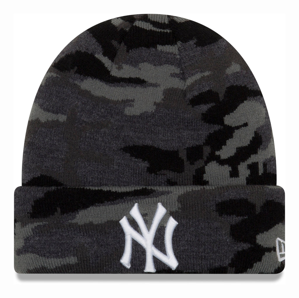 NY Yankees New Era Midnight Camo Kids Beanie (Age 4 - 10 Years)