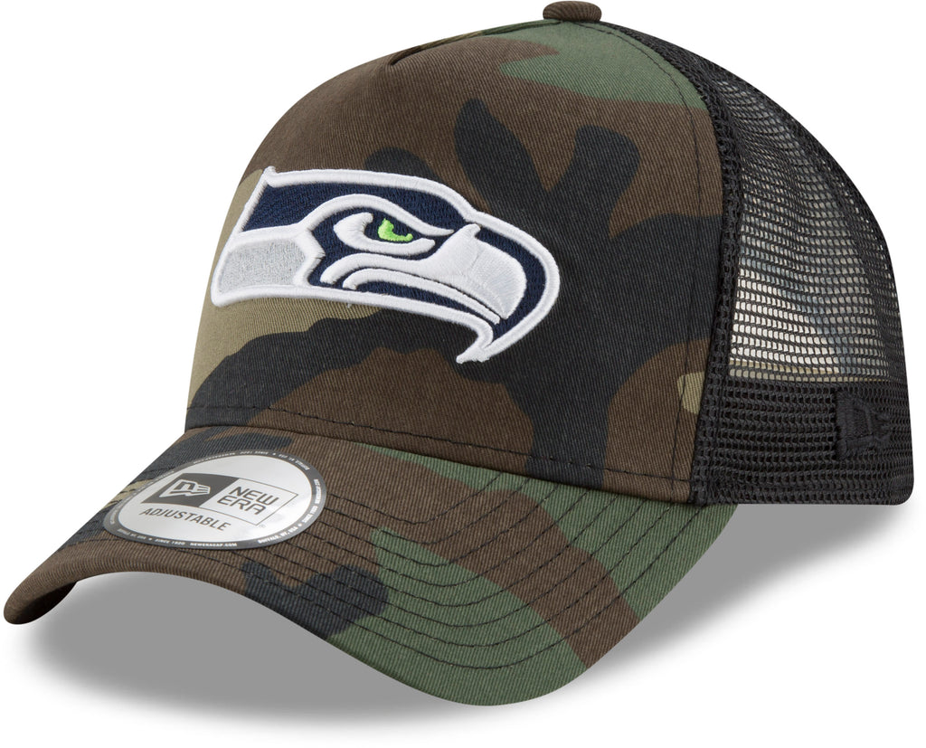 Seattle Seahawks New Era Woodand Camo Trucker Cap