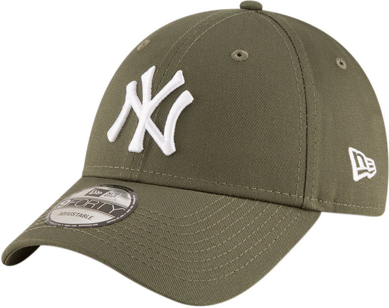 a325113ae8eb75 NY Yankees New Era 940 League Essential Olive Green Baseball Cap – lovemycap