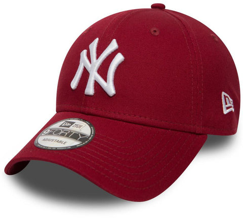 NY Yankees New Era 940 League Essential Cardinal Baseball Cap - lovemycap