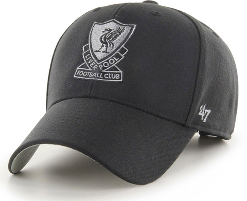 Liverpool FC 47 Brand MVP Adjustable Black Cap - pumpheadgear, baseball caps