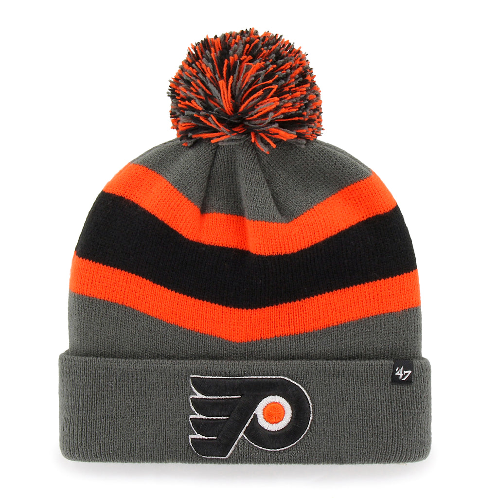 Philadelphia Flyers 47 Brand Charcoal Breakaway Cuff Knit Bobble Hat