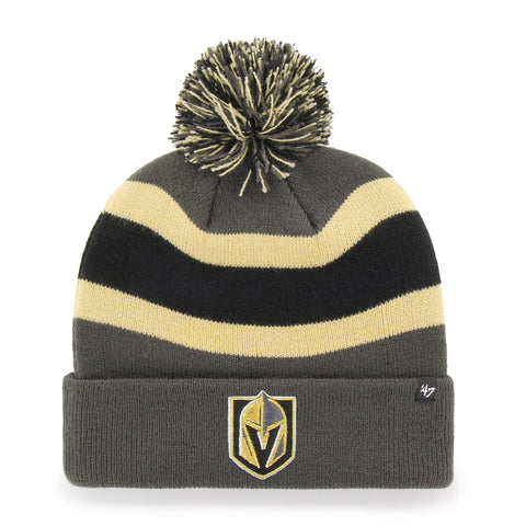 Vegas Golden Knights 47 Brand Charcoal Breakaway Cuff Knit Bobble Hat