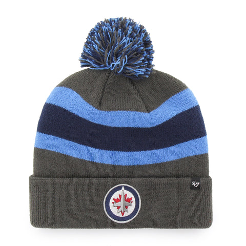 Winnipeg Jets 47 Brand Charcoal Breakaway Cuff Knit Bobble Hat