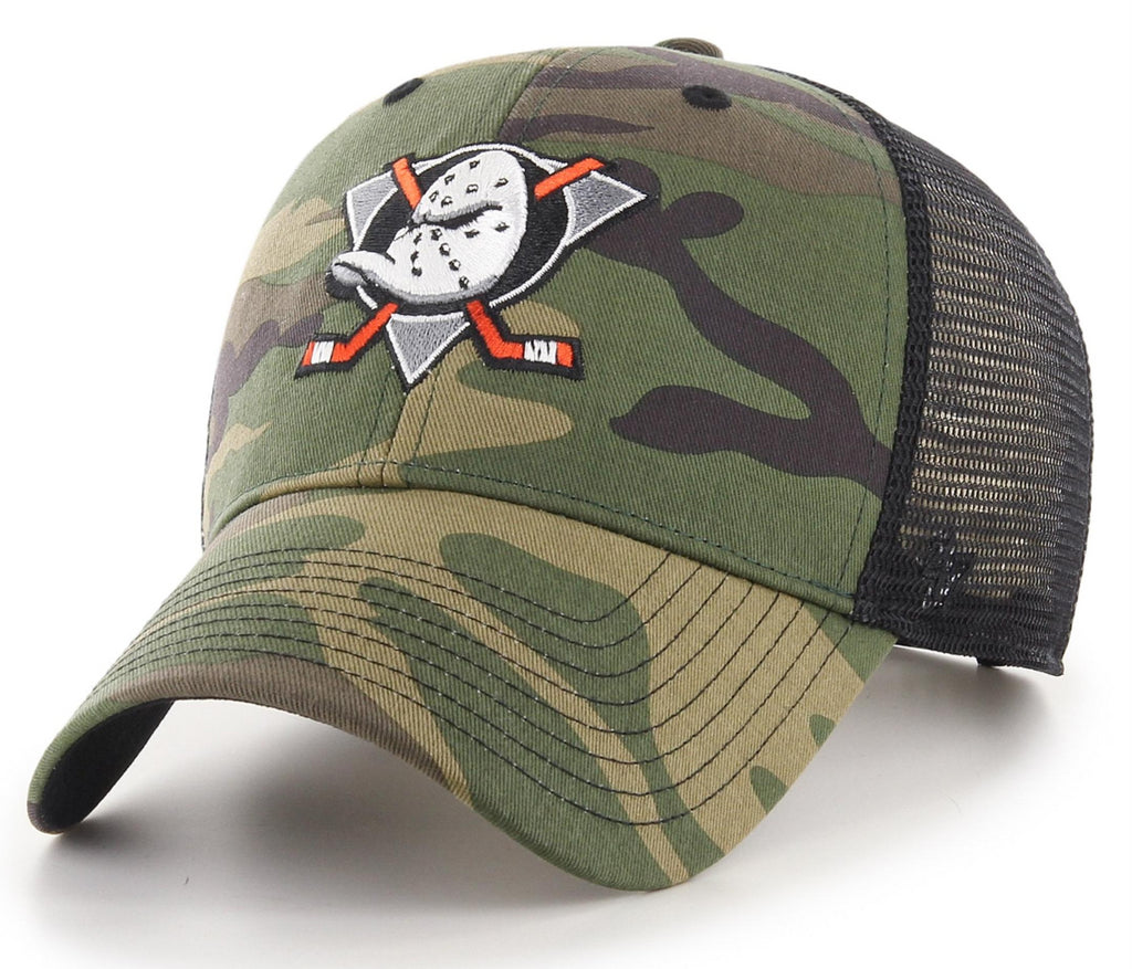 Anaheim Ducks 47 Brand MVP Camo Branson NHL Trucker Cap - pumpheadgear, baseball caps