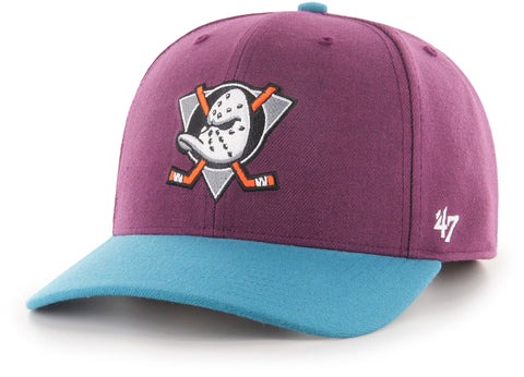 Anaheim Ducks 47 Brand MVP 2-Tone NHL Team Snapback Cap - pumpheadgear, baseball caps