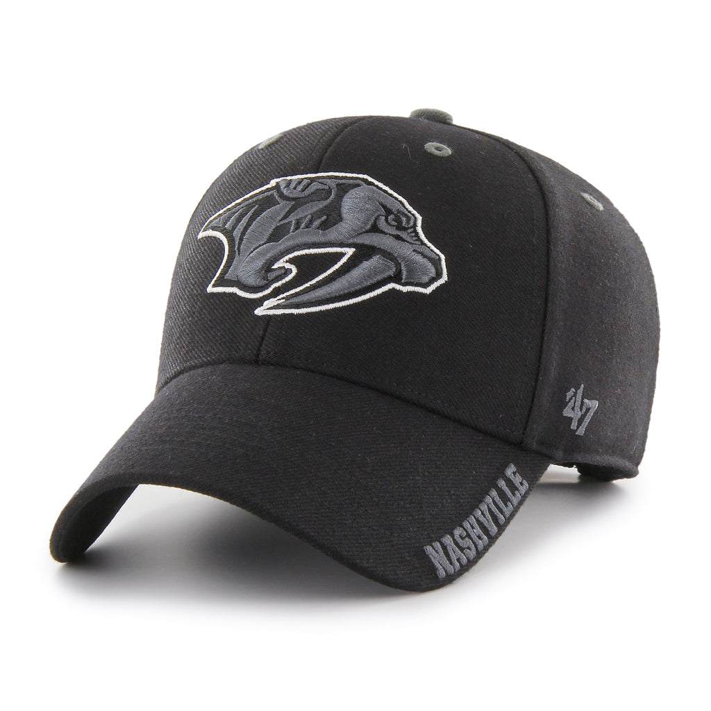 Nashville Predators 47 Brand MVP Black Defrost NHL Team Cap
