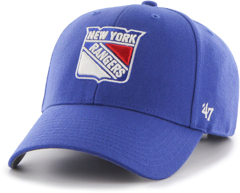 New York Rangers 47 Brand MVP Adjustable Blue NHL Cap