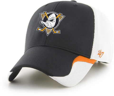 Anaheim Ducks 47 Brand MVP White/Black Bracken Cap
