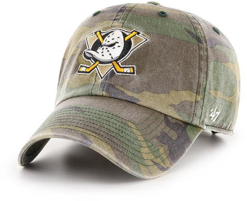 Anaheim Ducks 47 Brand Camo Clean Up NHL Team Cap - pumpheadgear, baseball caps