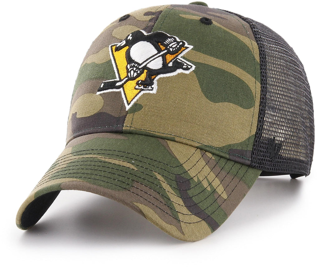Pittsburgh Penguins 47 Brand MVP Camo Branson NHL Trucker Cap