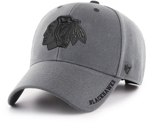 Chicago Blackhawks 47 Brand MVP Charcoal Defrost NHL Team Cap